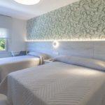 cama de matrimonio e individual de habitacion superior del hotel leal en pontevedra