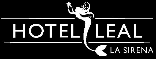 hotel leal sirena logotipo blanco